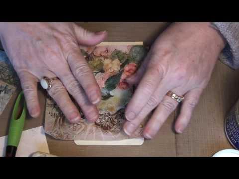 Decoupage napkin tutorial