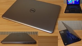 dell inspiron 7548 15 7000 serie notebook unboxing and first boot windows 8 pro