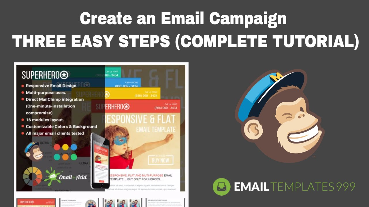 Create an Email campaign in Mailchimp in THREE EASY STEPS (COMPLETE ...