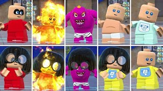 All Jack-Jack Costumes & Transformations in LEGO The Incredibles