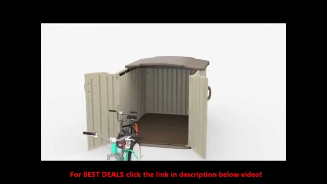 Suncast BMS4900 FOR SALE At BEST PRICE|Suncast BMS4900 Glidetop Slide Lid  Shed Review