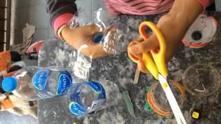วิธีการสอนประดิษฐ์ดอกไม้จากขวดน้ำ
