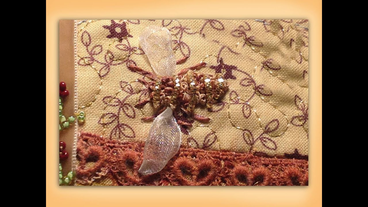How To Embroider A Silk Ribbon Bee