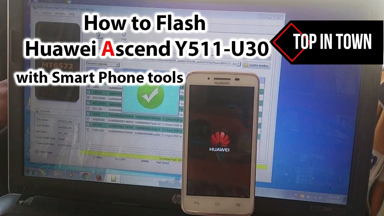 How to flash Huawei y511 U30 with SP Tools