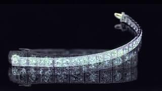 art deco 20 00ctw diamond platinum tennis bracelet