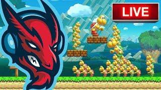 Celeste Act 5 // Super Mario Maker Super Expert Runs [LIVE]