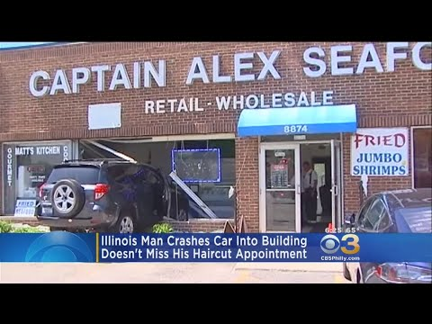 Man Crashes Into Storefront; Goes To Haircut Appointment Next Door