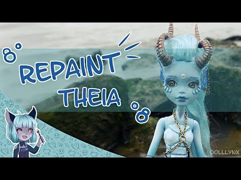 REPAINT WITHOUT A PLAN?! || Custom OOAK doll || Theia