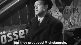 The Third Man - Cuckoo clock speech with subtitles
