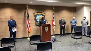 Wilmington Police Department press conference on firing of three officers for racist comments