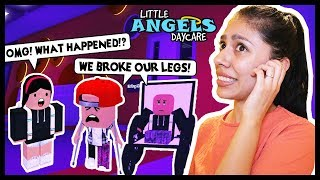 BOTH MY BEST FRIENDS BROKE THEIR LEGS! THE WORST DAYCARE!- Roblox Roleplay - Little Angels Daycare