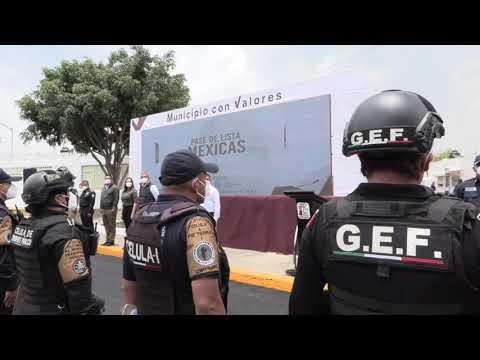 #ENVIVO Entregan camiones a la Policía de Ecatepec