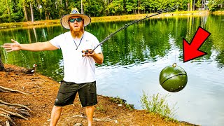 Catching HUGE Bass w/ NEW Technology (Bank Fishing)