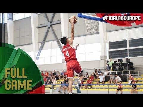 Czech Republic v Georgia - Full Game - Quarter-Final - FIBA U16 European Championship 2017 - DIV B