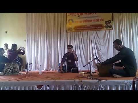 Ashi pakhare yeti, Bhavgeet   Sudhir phadke  # youth festival    sung by Shardul Bhandarkavthekar