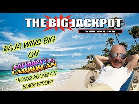➡️ RAJA WIN$ BIG on Fortunes of the Caribbean ⬅️ BONUS BLACK WIDOW BOOM