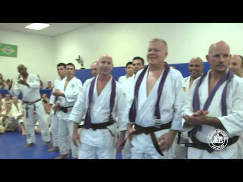 Royce Gracie and Red Belt Grandmaster Pedro Valente at the 2013 Valente Brothers Belt Ceremony