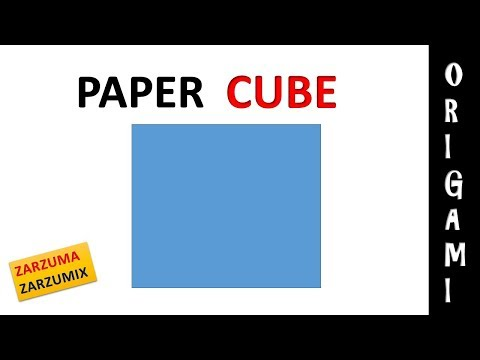 HOW TO MAKE A PAPER CUBE 3D EASY AND FAST