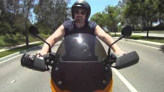 GoPro Camera Custom Panning Motorcycle Mount Test