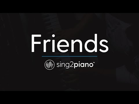 Friends (Piano Karaoke Instrumental) Justin Bieber & BloodPop
