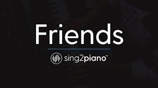 Friends (Piano Karaoke Instrumental) Justin Bieber & BloodPop
