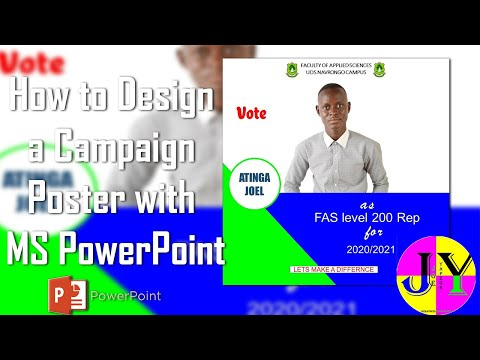 How to Design an Election Flyer/Poster using MS PowerPoint  for beginners, no Photoshop in 2020