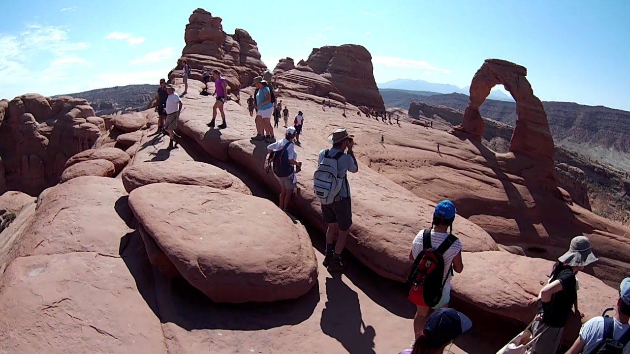 The Most Dangerous Narrow Rock Ledge Of The Delicate Arch Trail