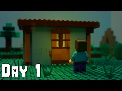 LEGO Minecraft Survival Day 1 (Stop Motion Animation) thumbnail