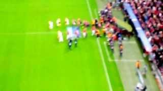 Bayern vs Viktorka- nástup, znělka LM