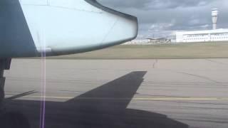 TAKEOFF YYC IN A DASH 8-400 AIR CANADA JAZZ FLIGHT 8555