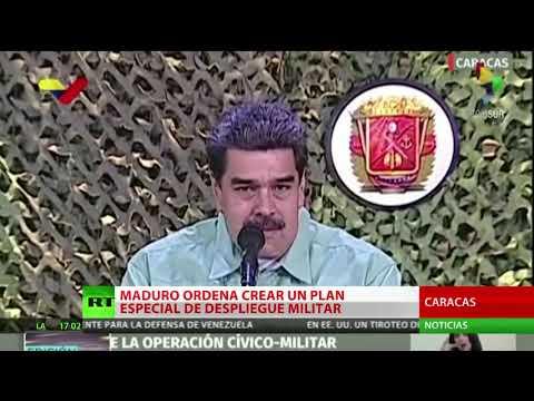 """Maduro ordena un plan de despliegue de las Fuerzas Armadas ante """"la provocación"""""""