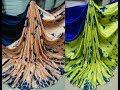 Satin Crape Silk Shibori Print Sarees || pure satin crape soft silk saree with price