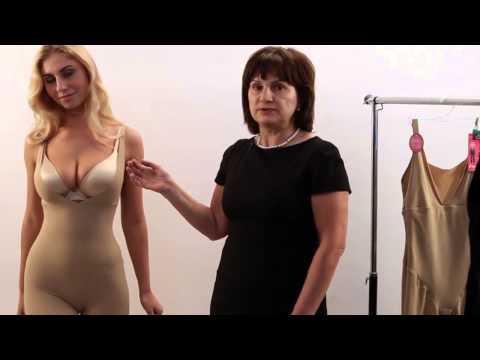 Как правильно одевать корректирующее белье видео