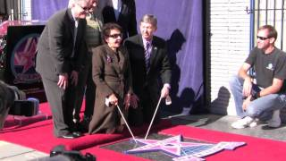 Leslie Caron receives her star on Hollywood Boulevard