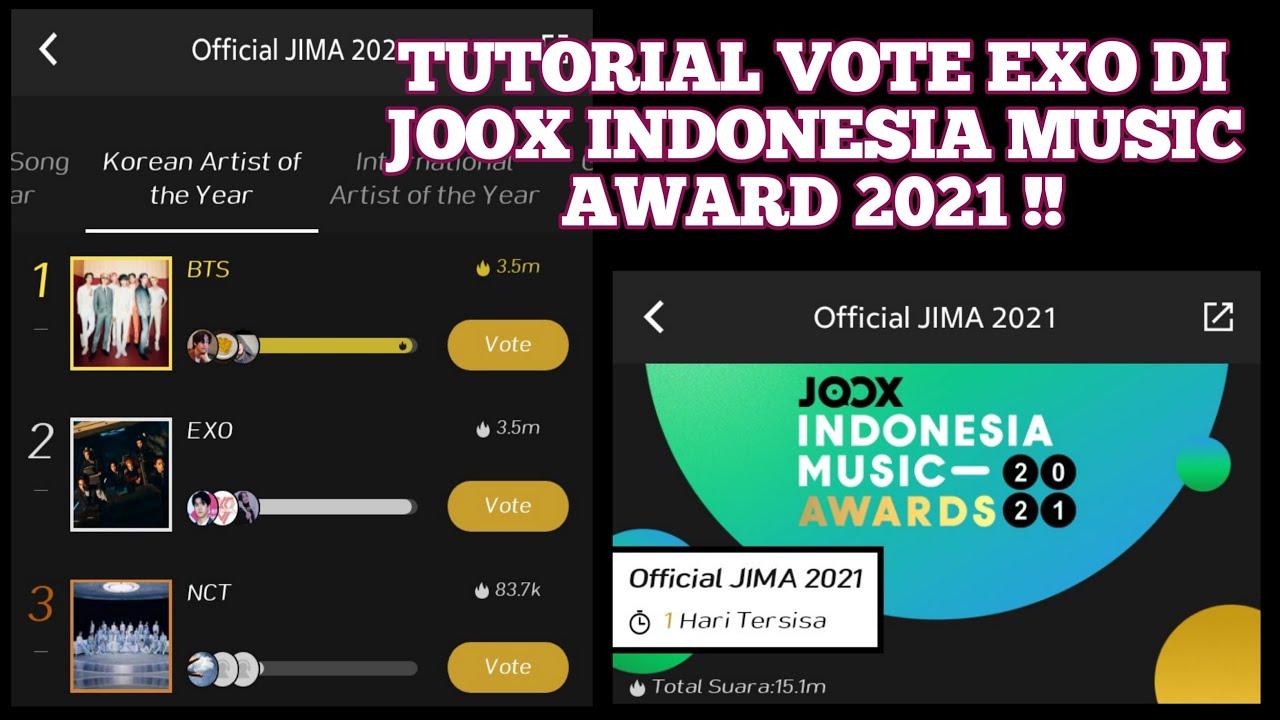 Tutorial Vote EXO Di (JOOX INDONESIA MUSIC AWARD 2021) Tinggal 1 Hari Lagi !!!
