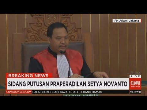 Breaking News! Sidang Putusan Praperadilan Setya Novanto; KPK Menang