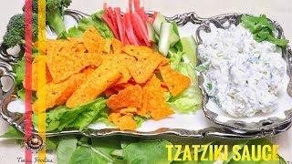 Tzatziki Sauce // How to Make Tzatziki Sauce Greek Garlic Yogurt Sauce // BY PREETI SEHDEV