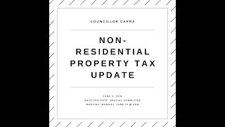 Non Residential Taxes Update