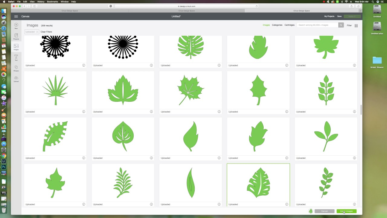 Cutting SVG files Leaves in your Cricut Machine - YouTube
