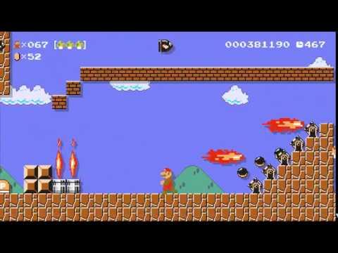 Super Mario Maker: A Bullet Hell Level