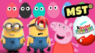 Peppa Pig Kinder Surprise eggs Play Doh Minions [MST]
