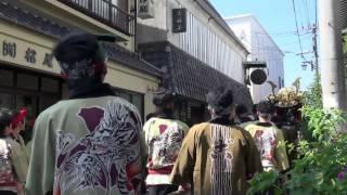 平成25年10月14日、唐津くんちに登場する14台の曳山のうちの4...