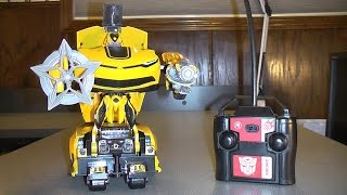 TRANSFORMERS 4 AGE OF EXTINCTION REMOTE CONTROL AUTOBOT BUMBLEBEE TOY REVIEW