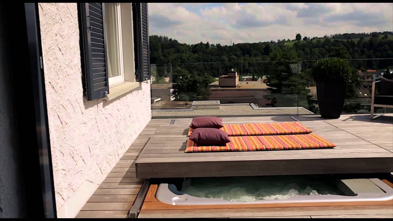 terrassendeck whirlpoolabdeckung automatisch youtube. Black Bedroom Furniture Sets. Home Design Ideas