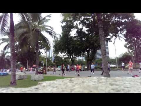 Aerobic at Lumpini  Park  in Bangkok , Thailand  2014