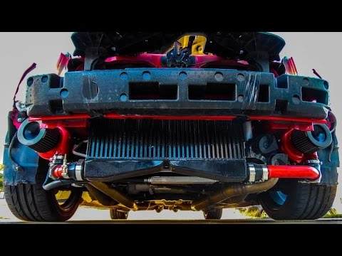 Stealth Twin Turbo V6 Mustang Dyno Exhaust Racing Reactions