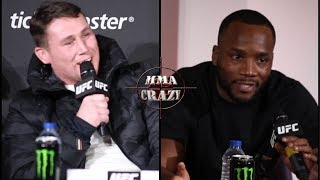 Darren Till & Leon Edwards heated exchange highlights at UFC London Press Conference