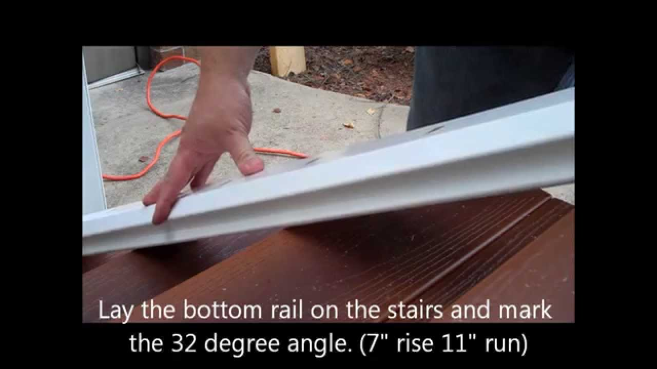 Stair Installation Instructions Using Fiberon Horizon Composite