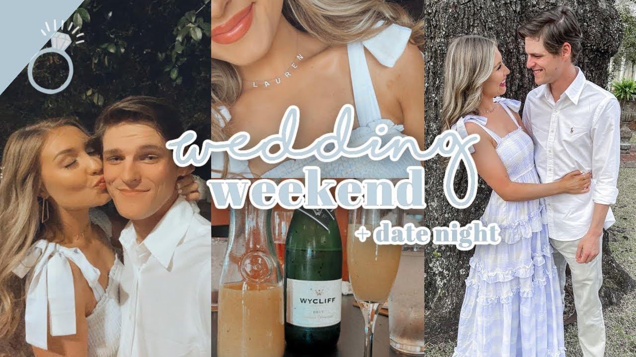 We Went To A Wedding! | Weekend In My Life, Wedding DIY, Date Night | Lauren Norris