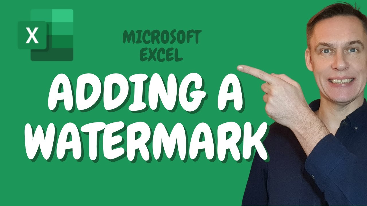 How to add a watermark in Excel